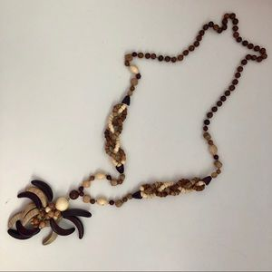 Jewelry - Wooden boho style necklace